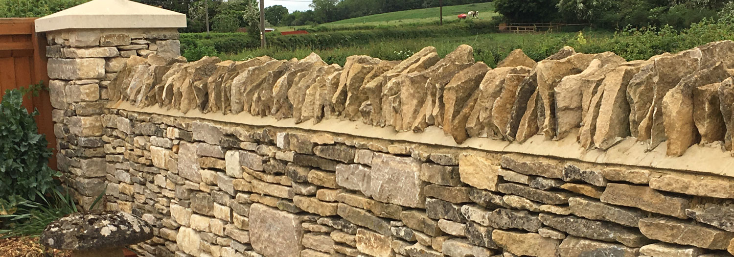 Wet Stone Wall Construction